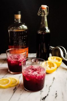 Beet Balsamic Shrub Cocktail | Local Haven via With Food + Love