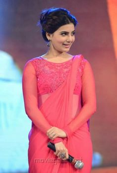 Samantha Images, Samantha Ruth, Plain Saree, Saree Photoshoot, Stylish Girls Photos, Elegant Saree, Beautiful Bollywood Actress, Indian Designer Outfits, Fancy Sarees
