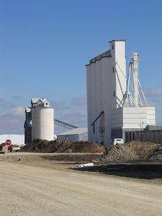Grain elevators in Alton, Kansas.