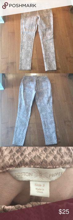 Boston proper pants, size 2, snake skin! Size 2, Boston proper, used, great condition Boston Proper Pants Leggings