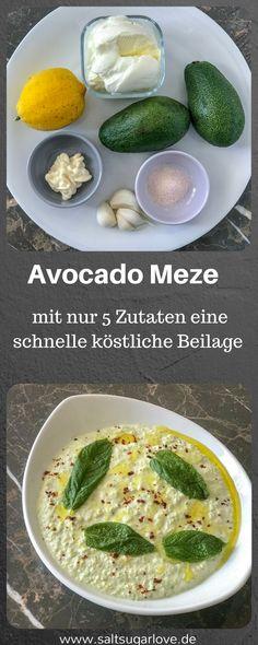 Avocado Meze schnell zubereitet mit wenigen Zutaten