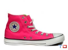 7762e6214376 CONVERSE ALL STAR HIGH TOPS - KNOCKOUT PINK