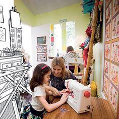 Curso de costura para crianças http://blog.costurebem.com.br/2012/02/curso-de-costura-para-criancas/