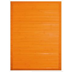 A bright orange rug lends a pop of color to a space.   from $24