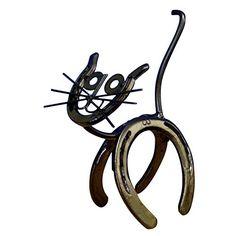 Horseshoe Kitty Genuine Western Decor Sculpture Art DC Mach