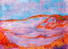Dune IV, 1910 by Piet Mondrian. Fauvism. landscape. Gemeentemuseum, the Hague, Netherlands