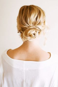 For those romantic summer nights, this updo is easy and elegant. Click here for the full tutorial.