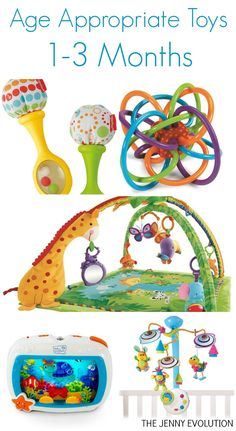 Development and Age Appropriate Toys for Infants 1-3 Months