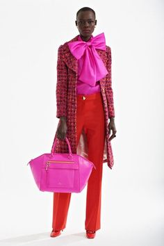 Flame orange and hot pink. Kate Spade New York Fall 2013 Ready-to-Wear Collection