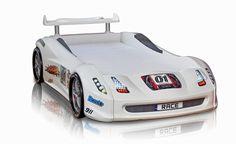 Der weiße Rennwagen für jedes Kinderzimmer. Der Turbo in weiß.