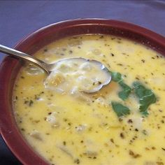 Creamy Green Chili and Cheese Soup. Have this going now, with a few variations. Hope it comes out good!