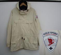 VTG 90s Polo Sport X Bergdorf Goodman Ski Patch Jacket M Ralph Lauren Yung Lean