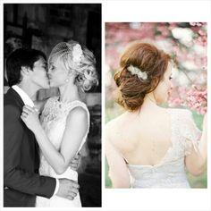 My bridal hair on the left
