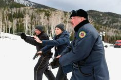 Returning to the modern West, this time as Officer Ben (right) with Hugh Dillon (left) and Elizabeth Olson in Taylor Sheridan's crime-drama Wind River, Greene was awarded the Best Actor Award for his role at the American Indian Film Festival in 2017. Elizabeth Olsen, Hd Movies, Movie Tv, 2018 Movies, Cult Movies, Movies Online, Marvel Storyline, Tracks Movie, Cinema Listings