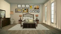 Traditional bedroom with warming tones of beige