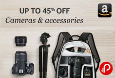 Amazon is offering Upto 35% off on Cameras and Photography Accessories. Bestsellers Popular Digital Cameras linke Digital SLRs, Point & Shoot Cameras, Mirrorless Cameras, Camera Lenses, Camera Cases & Bags and other Camera Accessories from big Brands Samsung, Canon, Nikon, Sony, Olympus, Fujifilm, Lowepro and many more.  http://www.paisebachaoindia.com/cameras-photography-accessories-upto-35-off-amazon/