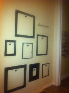 """Make a """"Masterpiece Wall."""" Use clips and frames to show off those masterpieces. Change weekly!"""