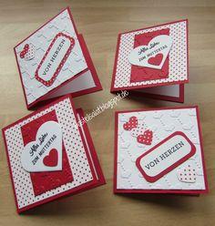 Mini-Karten (7.5 cm x 7.5 cm)  zum Muttertag Stampin' Up!