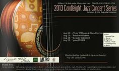 Candlelight Jazz: August 2013
