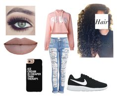 """""""Untitled #457"""" by amberyoung223 ❤ liked on Polyvore featuring Hudson, GCDS, Casetify, NIKE and Tuttle"""