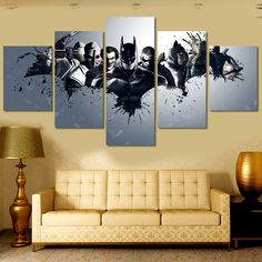5pc Movie Batman And Villains Painting on Canvas //Price: $16.00 & FREE Shipping //     #BatmanFansClub