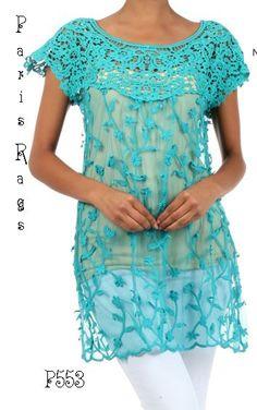 Paris rags gorgeous tunic top