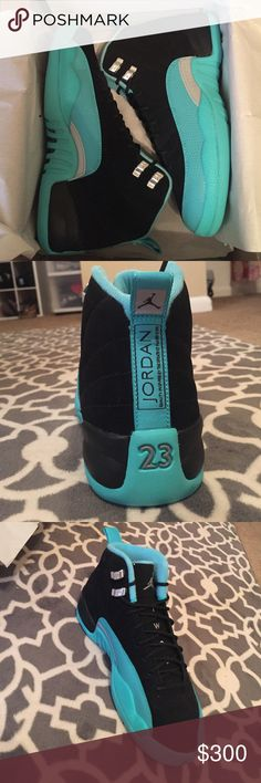 Jordan retro 12 grade school BRAND NEW AUTHENTIC Jordan retro 12 hyper jade grade school shoes. No trades! Make me an offer Jordan Shoes
