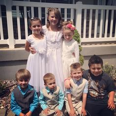 The kids at Princesstard's baptism