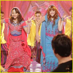 Ohh! Shake it up Rocky and Cece Bollywood dancing! and i love their outfits! @Danielle Finley Coleman @Erin Duncan Thorne