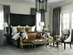 chic grey home design decorating before and after house design interior decorating Dream Bedroom, Home Bedroom, Master Bedroom, Bedroom Decor, Master Suite, Bedroom Ceiling, Bedroom Colors, Bedroom Setup, Bedroom Black