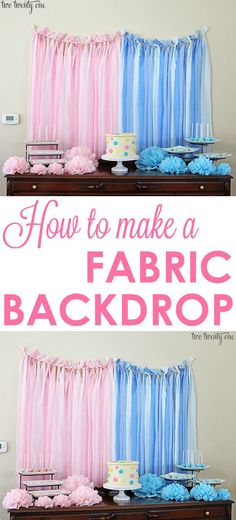 How To Make A Fabric Backdrop!  Perfect for weddings, birthday parties, and more!