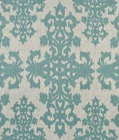 Amazon.com: Casablanca Turquoise on Oatmeal Fabric - by the Yard: Arts, Crafts & Sewing