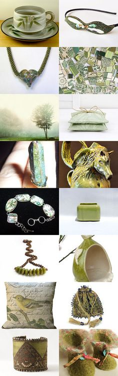 Shades of green. by JAN on Etsy