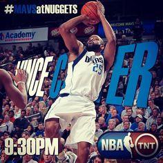 Mavs vs Nuggets tonight at 9:30PM on TNT.