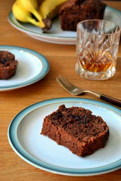 Double chocolate and Whiskey Banana Bread