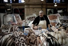 Fish seller, Jerez (this photo won first prize in the 'Food in it's place' category in the 2012 Pink Lady FOOD PHOTOGRAPHER OF THE YEAR awards.