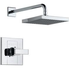 Delta�Arzo Chrome 1-Handle Shower Faucet Trim Kit with Rain Showerhead