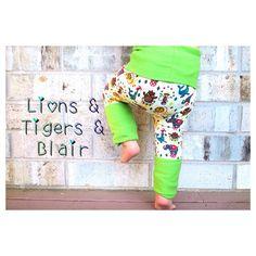 Handmade Lillestoff Circus Fart Sacks - Size 3M to 3T - Toddler Legging/Baby Legging/Grow With Me Pants/Cloth Diaper Pants/Toddler Pants on Etsy, $22.00
