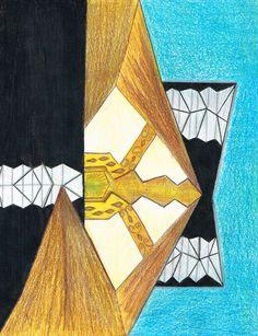 Título: Esperanza más allá de la muerte Autor: Gloria Ramirez Técnica: Lápiz de color