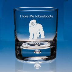 Labradoodle Dog Lover Gift Engraved Personalised Whisky Glass - Your Name and Message - Birthday Gift - Christmas Gift - Dog Lover Gift