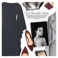 """Party Style: One-Shoulder Dress II"" by anna-anica ❤ liked on Polyvore featuring Cushnie Et Ochs, Gianvito Rossi, Trina Turk, ZAC Zac Posen, Chicwish, Bassike and Burberry"