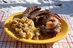 Székely Konyha: Füstölt oldalas párolt savanyú káposztával Mashed Potatoes, Beef, Fish, Ethnic Recipes, Gates, Whipped Potatoes, Meat, Smash Potatoes, Ox