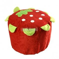 $3.40 New Strawberry Villus Inflatable Stools Pouf Chair Seat Bedroom