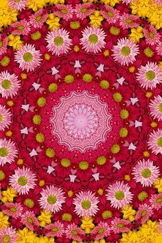 ☮ American Hippie Psychedelic Art ~ Mandala ..