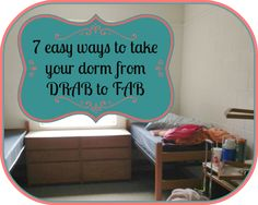 7 easy and frugal ways to decorate your dorm room using inexpensive decor ideas.