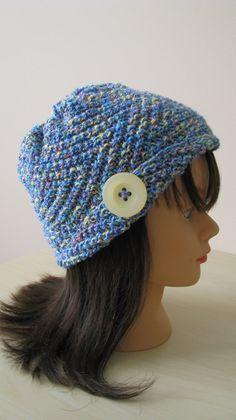 Knitted Spring Hat or Chemo Hat  'Ava  III' by NeedleLoveKnits, $24.99