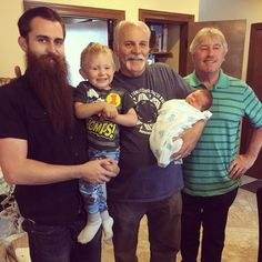 This family takes facial hair very seriously. #beardbrandDADS