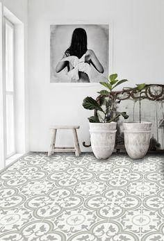 Vinyl Floor Tile Sticker - Trefle Thistle