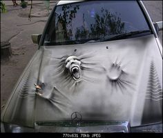 Car painting - Fahrzeuge - - New Ideas Airbrush Designs, Airbrush Art, Air Brush Painting, Car Painting, Custom Paint Jobs, Custom Cars, Cool Car Paint Jobs, Weird Cars, Cool Cars