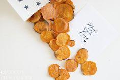 Coco's Cute Corner: Süsskartoffel Chips - süss, salzig, knusprig